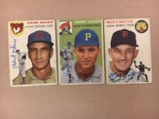 Hank Sauer Chicago Cubs Signed 1954 Topps Card COA