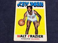 K3-6 BASKETBALL CARD - WALT FRAZIER NEW YORK KNICKS - 1971 TOPPS