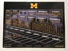 "UNIVERSITY OF MICHIGAN 2018 FOOTBALL POSTER SCHEDULE 15"" X 20""  NEW"