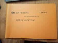 More details for british rail t. o. p. s. location handbook 1988 good