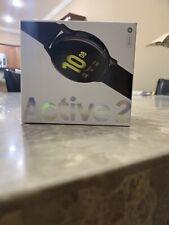 Sealed New Samsung Galaxy Watch Active 2 SM-R820 44mm Aluminum Case Aqua Black