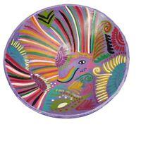 Artesania Mexicana Hand Thrown Pottery Bowl Hand Painted Playa Del Carmen Boho