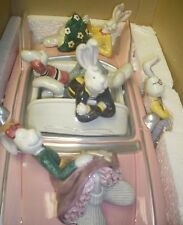 1994 Fitz & Floyd Taiwan Sock Hoppers Pink Cadillac Car Cookie Jar 67/273 in Box