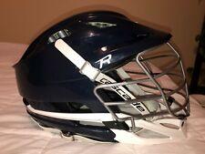Men's Cascade R Navy Blue and White Lacrosse Helmet