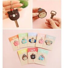 6 PCS Novelty Key Covers Cap Rings Set 6 Assorted Cartoon Styles Identifier
