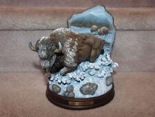 Bradford Exchange Purple Mountains Majesty American Bison Buffalo Figurine Beaut