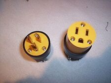 Electrical plugs 10 male 10 female 20 PLUGS 15 amp 125V 3 Prong FREE USA SHIP
