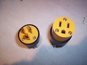 Electrical plugs 10 male 10 female 20 PLUGS 15 amp 125V 3 Prong FREE USA SHIP