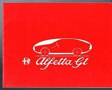 Alfa Romeo Alfetta 1.8 GT 1974-76 UK Market Sales Brochure