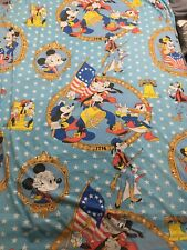 Vintage Mickey Mouse Disney Spirit of '76 Patriotic Flat Twin Sheet