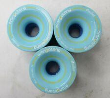3x Orangatang 4President 70 mm > 53mm Contact  > 77a Long Board Wheels Blue