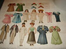 Wonderful Group of Antique Paper Dolls 1894 Hood's Sarsaparilla Pills London