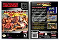 Street Fighter II Turbo - Super Nintendo SNES Custom Case *NO GAME*