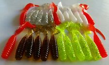 25x soft plastic lure-Combo Mixed Soft Plastic Lures Grubs Baits flathead bream