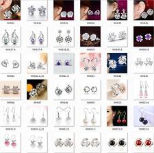 Hot Women 925 STERLING SILVER Earrings Hook Earrings fashion jewelry Fine gift