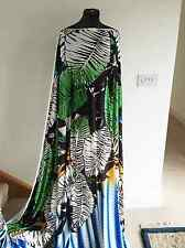 Bold Caribbean Tropical Banana Palm Leaf Print Stretch Jersey Dressmaking Fabric