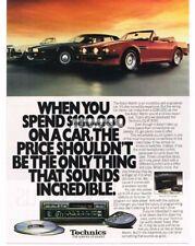 1989 Technics CQ-R 9550 Car Cassette CD Player Radio Aston Martin Vtg Print Ad