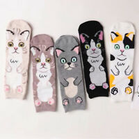 3 Pairs Hot Women Cat Cute Cartoon Girls Cotton Ankle Socks Low Cut Socks new