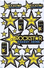 New Rockstar Energy Motocross Racing Graphic stickers/decals. 1 sheet (st81)