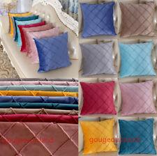 New Velvet Soft Plain Solid Cushion Cover Pillow Case Home Sofa Decor 45 cm