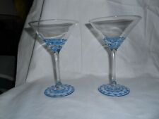 SET OF TWO HAND PAINTED MARTINI GLASSES