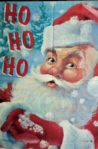 "Snowflake Santa Standard House Flag by Toland 28"" x 40"", #2102 Ho, Christmas"