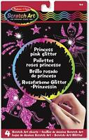 Melissa & Doug 15810 Princess Pink Glitter Scratch Art Boards - 15810 - NEW!