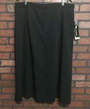 Sag Harbor Woman Lined Black Skirt Size 22W
