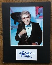 CARL PERKINS 11 x 14 Photo Matted  Signed Cut Card  COA 1997 BLUE SUEDE SHOES