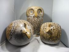 3 EARLY LARGE ITALIAN WHIMISICAL ALDO LONGHI BITOSSI CERAMIC BIRDS