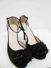 Designer Prada BNWOB Size 39.5 Black Satin & Leather AMAZING Women's Shoes