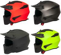Spada Storm Open Face Plain Helmet For Motorcycle Bike Ventilated Sun Visor
