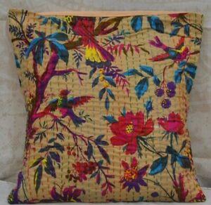Home Decor Throw Pillowcase Kantha Cushion Cove  Cotton Square Pillow Cover Case
