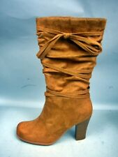 Lower East Side Marissa Tan Faux Suede Boots In Box - Size 8M