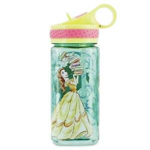 Disney Beauty and the Beast Water Bottle with Built-In Straw