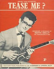 Tease Me - Keith Kelly - 1960 Sheet Music