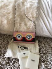 AUTHENTIC FENDI MONSTER TUBE WALLET ON CHAIN BAG purse