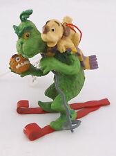 Dr. Seuss The Grinch & Reindog on Skis Christmas Ornament-Jim Hanson-1997 w/Tags