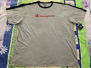 Size 4XL Men Champion Graphic Logo T-shirt Short Sleeve Tee 4X Big