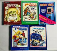 Lot of 5 Intellivision Games Frog Bog Donkey Kong MLB Space battle Las Vegas