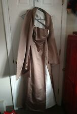 Gorgeous~Michaelangelo Women's Long skirt sleeveless with shawl~ Size 6 ~ Beige