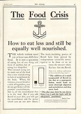 More details for 1917 antique print- ww1-advert-the food crisis -bovril