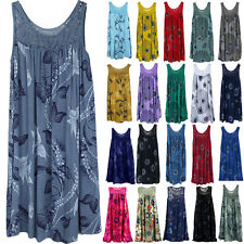 Women Boho Floral Sleeveless Short Dress Casual Summer Beach Vest Tunic Dresses