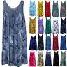 Women Boho Sleeveless Tunic Tank Vest Dress Summer Beach Loose Kaftan Plus Size