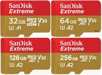 SanDisk Micro SD SDXC Card Extreme 32GB 64GB 128GB 256GB Class 10 Memory Card