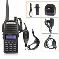 New Baofeng UV-82L 136-174/400-520MHz Ham Two way Radio Walkie Talkie +Cable US