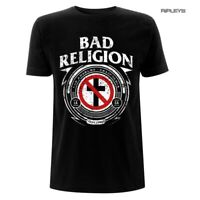 Official T Shirt BAD RELIGION Punk Rock Classic Logo 'Badge' All Sizes