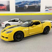 Corvette Z06 GT1 2009 Yellow 1:24 Scale Die-Cast Model Car