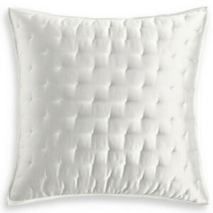 Hotel Collection Moire Euro Pillow Sham Cover Quilted 26in* 26in Off White 1PCS
