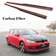 Car Side Skirts Door Trims Fit for VW GOLF VII 7 MK7 GTI 14-17 Carbon Fiber